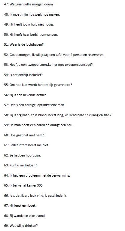 Vertaaloefening Spaans, pagina 3
