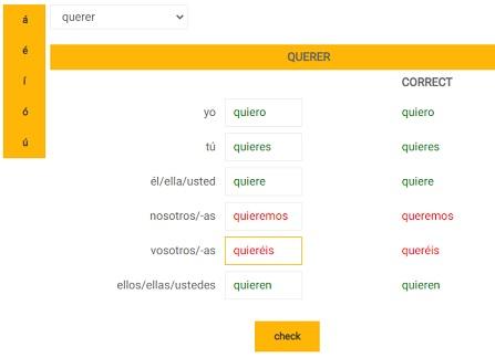 online oefeningen Spaans